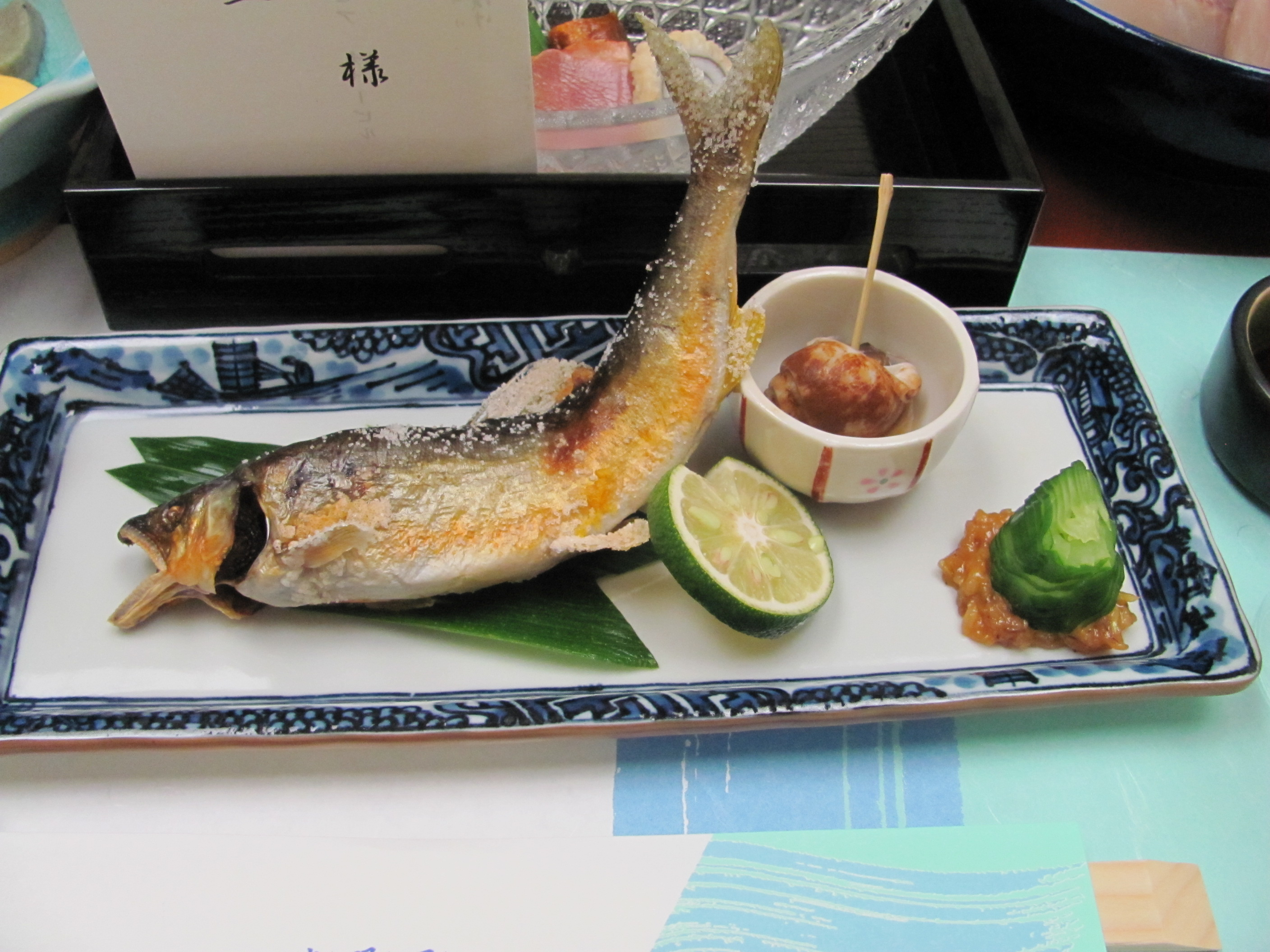 Trying weird food in japan a whole fish for Fish dishes for dinner