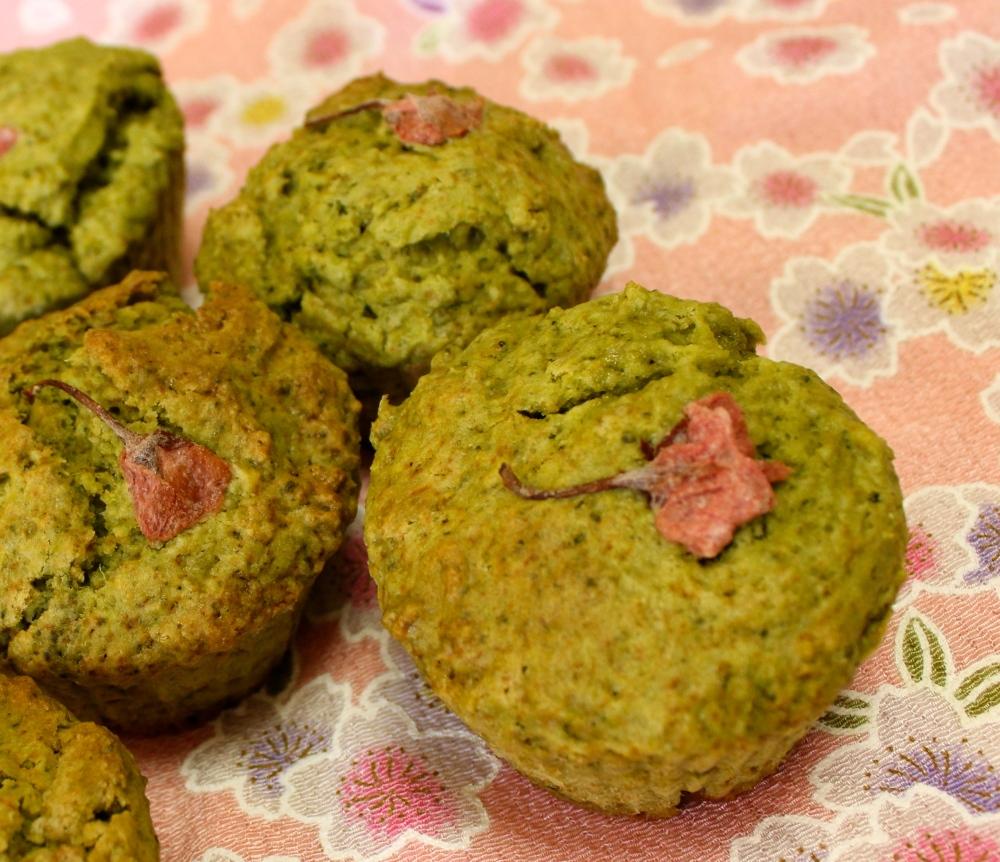 Sakura Matcha Muffins @I'll Make It Myself