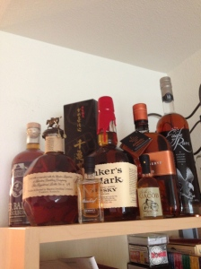 The liquor shelf @ I'll Make It Myself