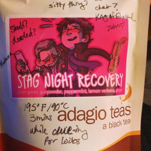 Stag Night Recovery by Cara McGee at Adagio Teas
