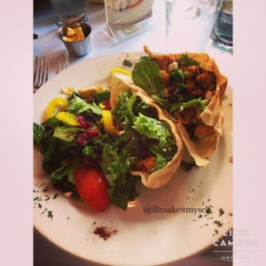Crawfish and feta pita at Magpie Street Cafe
