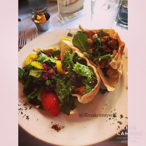 Crawfish and feta pita at Magpie Street Cafe