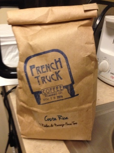 A little bit of New Orleans at home! French Truck coffee beans.