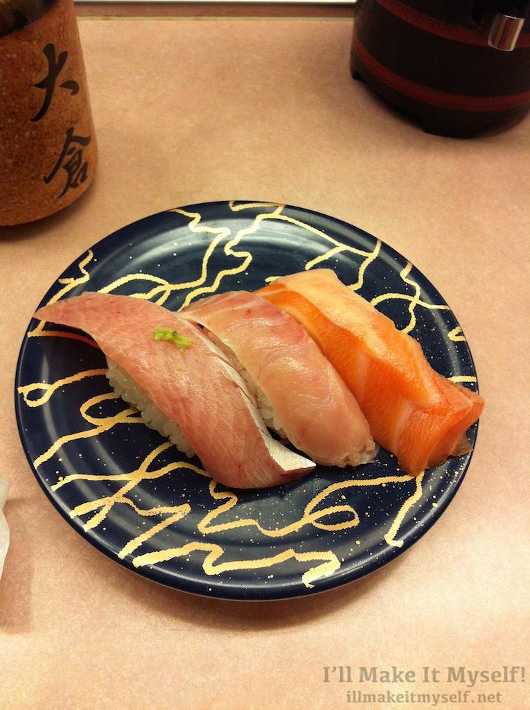 From Ohkura (大倉) kaitenzushi in Omicho Market, Kanazawa