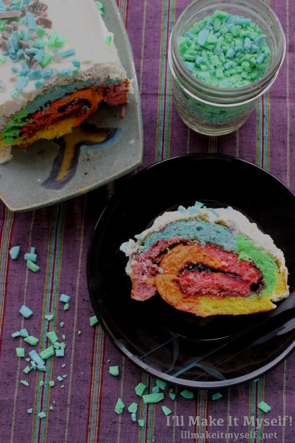 Rainbow Roll Cake | I'll Make It Myself! 1