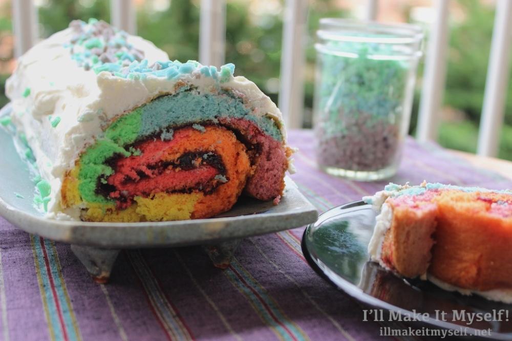 Rainbow Roll Cake | I'll Make It Myself!