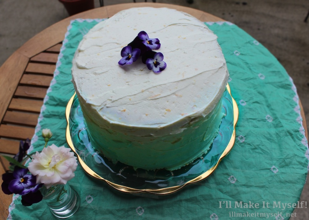Great Book Larder Bake Off Watercolor Layer Cake | I'll Make It Myself! 1