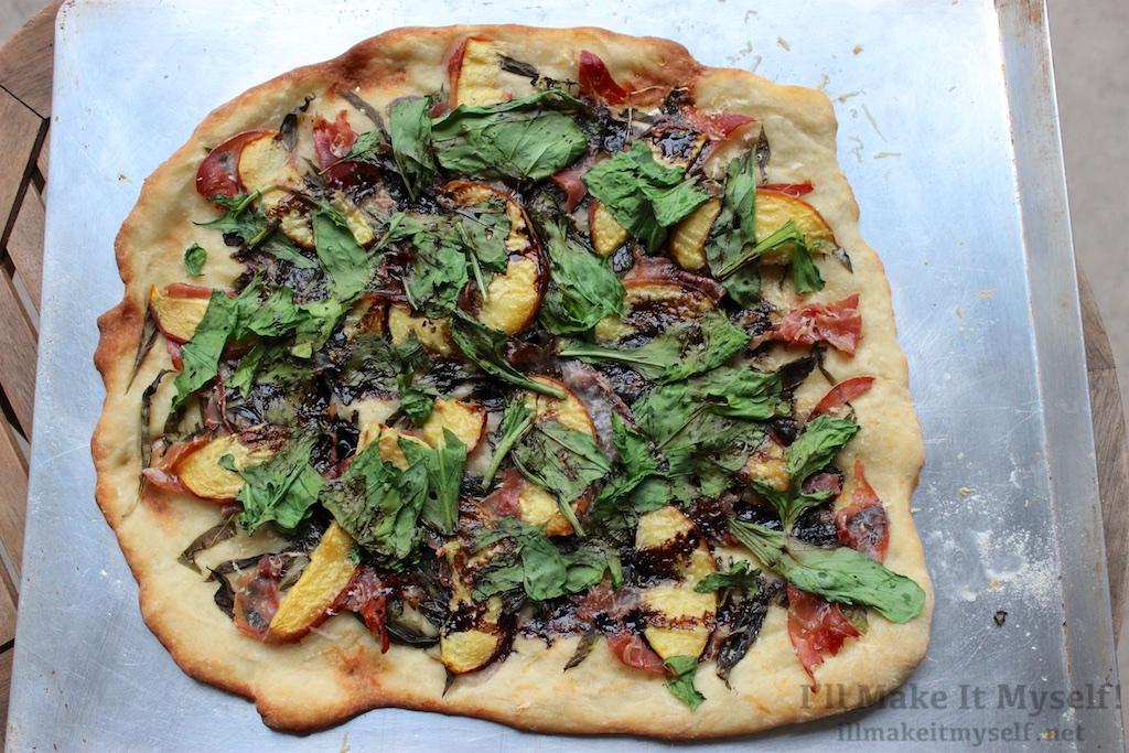 Peach, Prosciutto, and Arugula Pizza with Balsamic ...