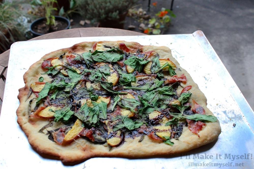 Peach Prosciutto Arugula Pizza | I'll Make It Myself! 2