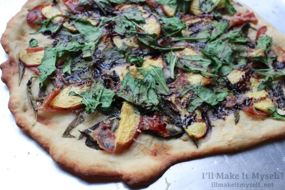 Peach Prosciutto Arugula Pizza | I'll Make It Myself! 3