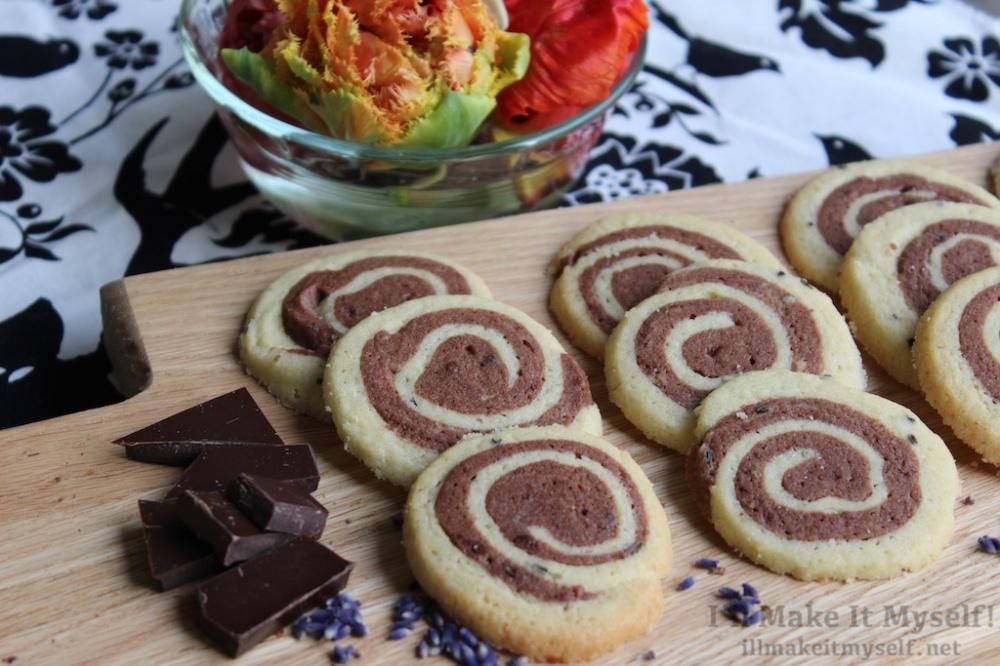 Lavender-Chocolate Pinwheel Cookies | I'll Make It Myself! 4