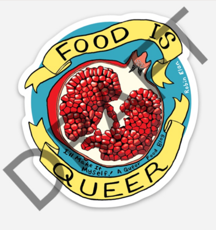 Food is Queer Sticker