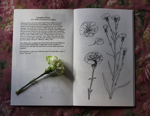 Green Carnation from The Queer Language of Flowers Zine